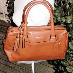 COACH Vintage Camel Leather Shoulder Bag